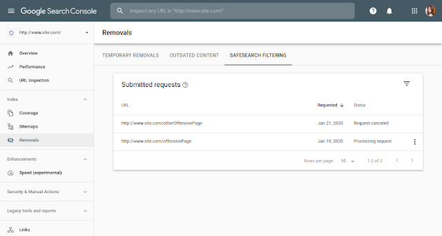 SafeSearch filtering
