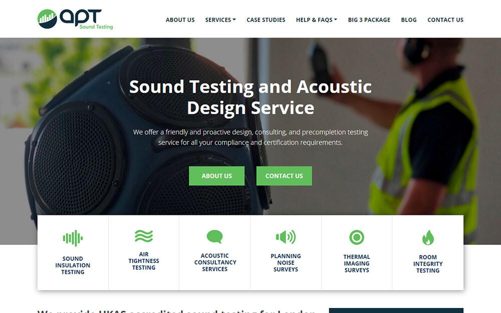 APT Sound Testing website preview