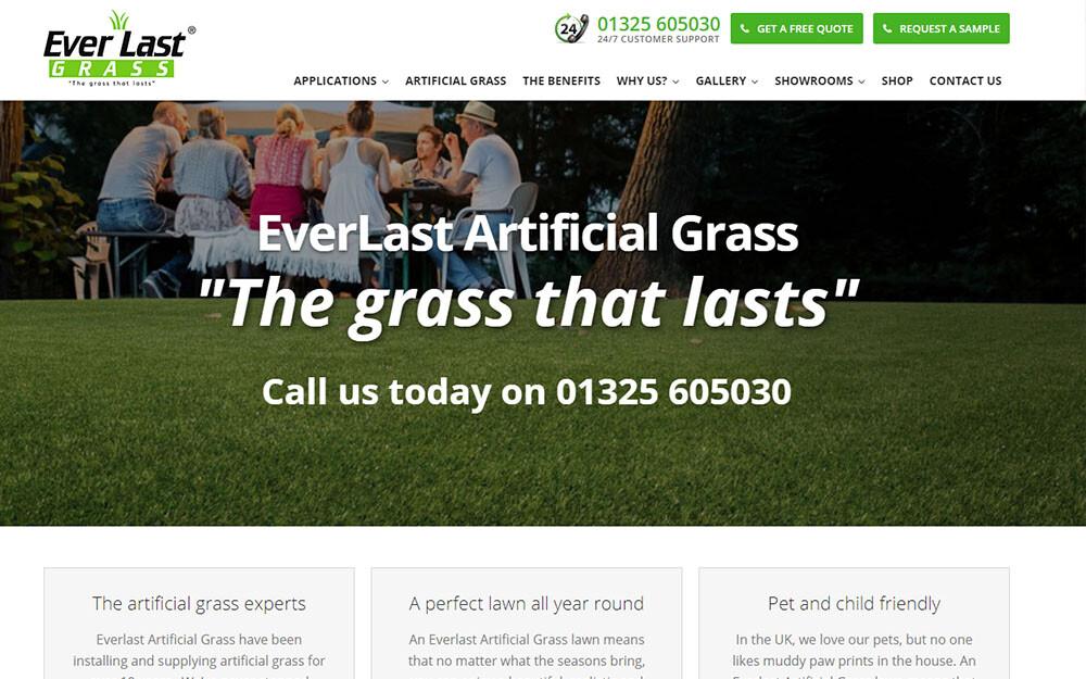 Everlast Artificial Grass website preview
