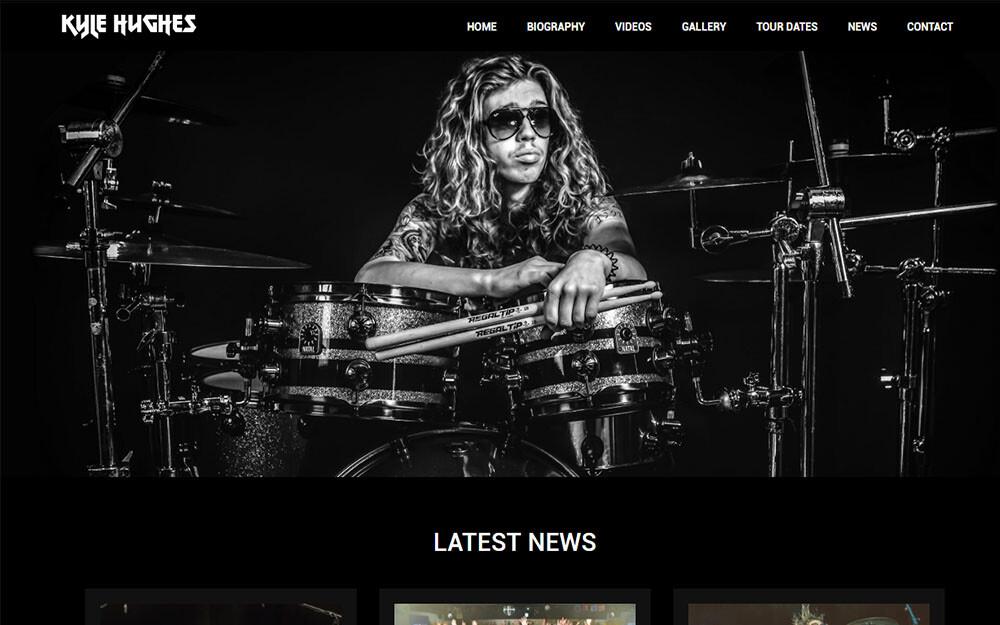 Kyle Hughes website preview
