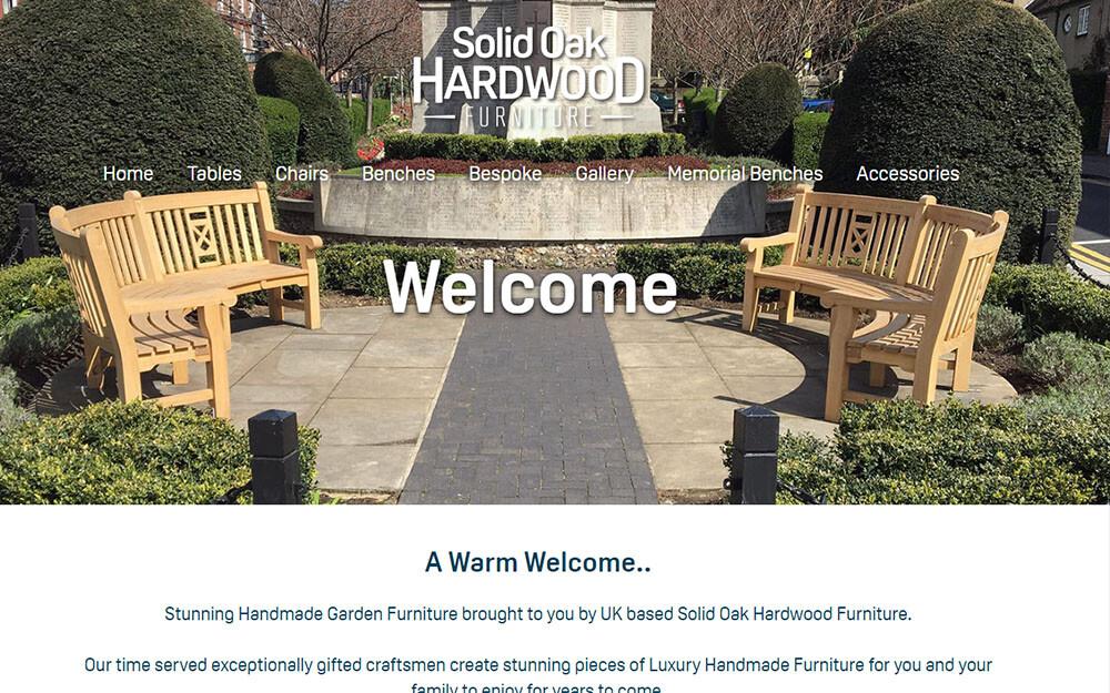Solid Oak Hardwood Furniture website preview