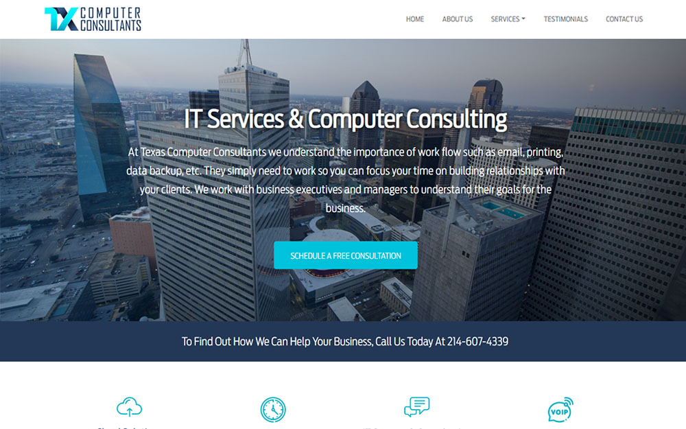 Texas Computer Consultants website preview