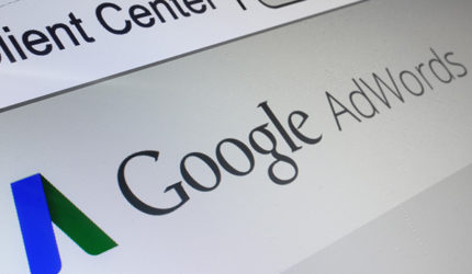 Screen showing Google AdWords logo in Client Center